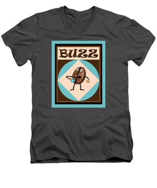 Coffee Buzz Men's V-Neck T-Shirt