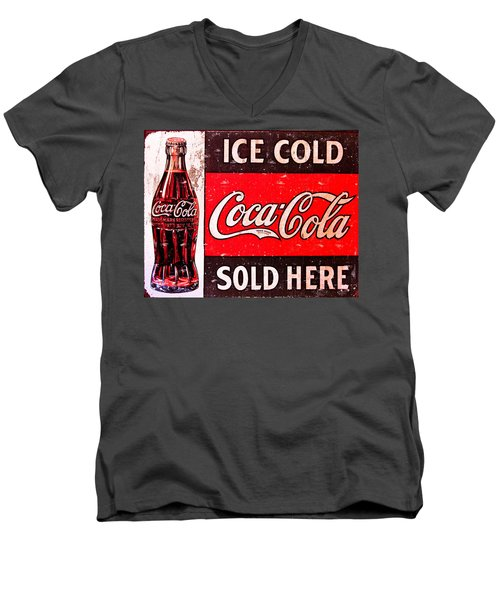 Coke Men's V-Neck T-Shirt