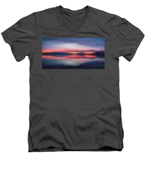 Cold Bay Men's V-Neck T-Shirt by Michael Pickett