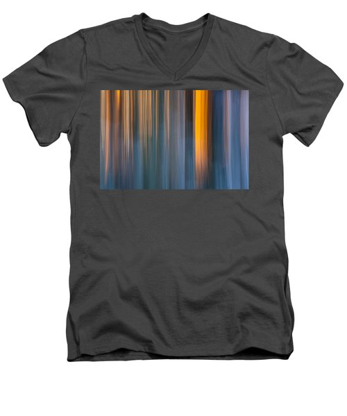 Men's V-Neck T-Shirt featuring the photograph Cold Shadows by Davorin Mance