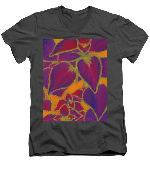 Coleus Gone Wild Men's V-Neck T-Shirt