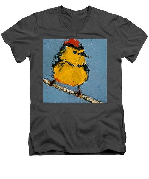 Collard Redstart Men's V-Neck T-Shirt