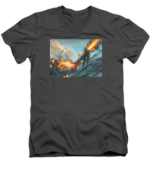 Collateral Damage Men's V-Neck T-Shirt