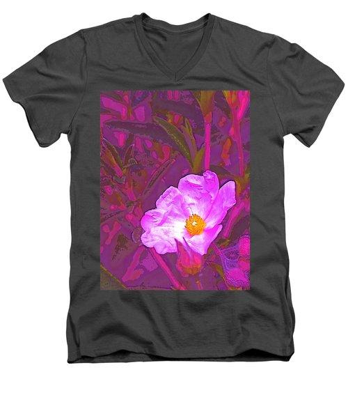 Color 2 Men's V-Neck T-Shirt by Pamela Cooper