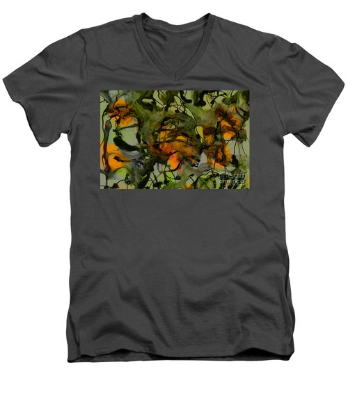 Color Abstraction Xvii Men's V-Neck T-Shirt by David Gordon
