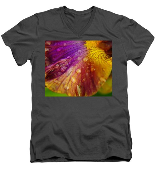 Color And Droplets Men's V-Neck T-Shirt by Jeff Swan