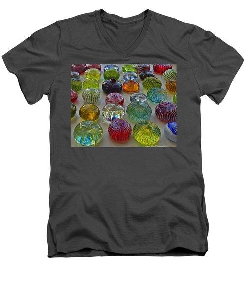 Color Dots Men's V-Neck T-Shirt