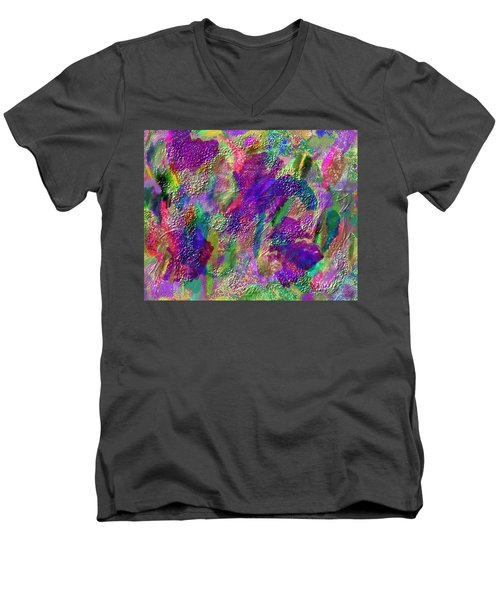 Color Dream Play Men's V-Neck T-Shirt by Penny Lisowski