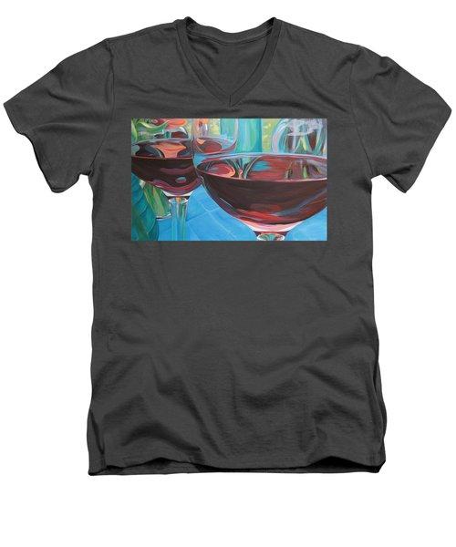 Color Flow Men's V-Neck T-Shirt