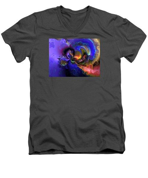 Color Gone Amok Men's V-Neck T-Shirt