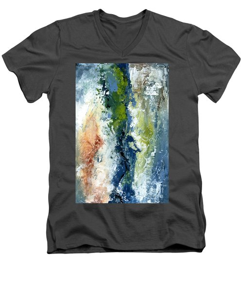 Color Harmony 10s Men's V-Neck T-Shirt by Emerico Imre Toth