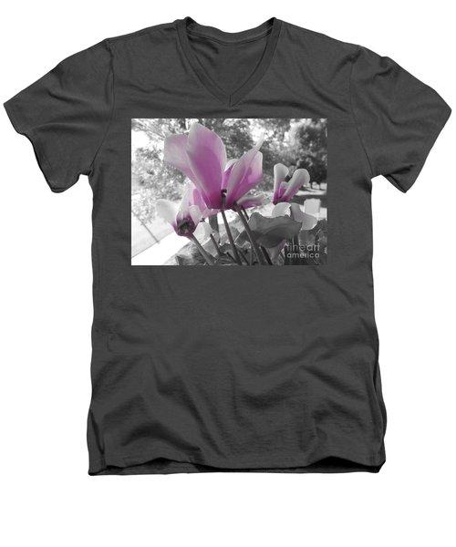 Color Pop  Men's V-Neck T-Shirt