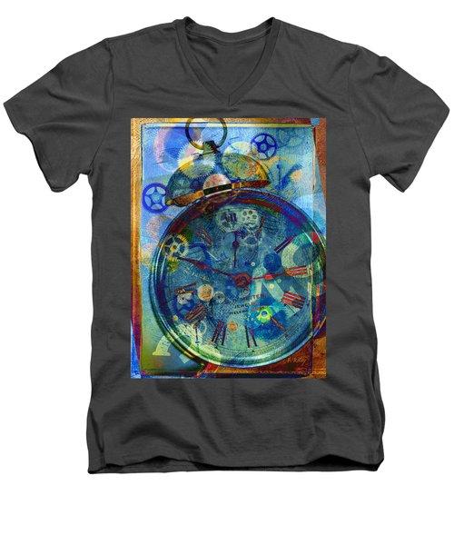 Color Time Men's V-Neck T-Shirt