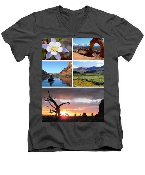 Colorado Utah Calendar 2018 Men's V-Neck T-Shirt