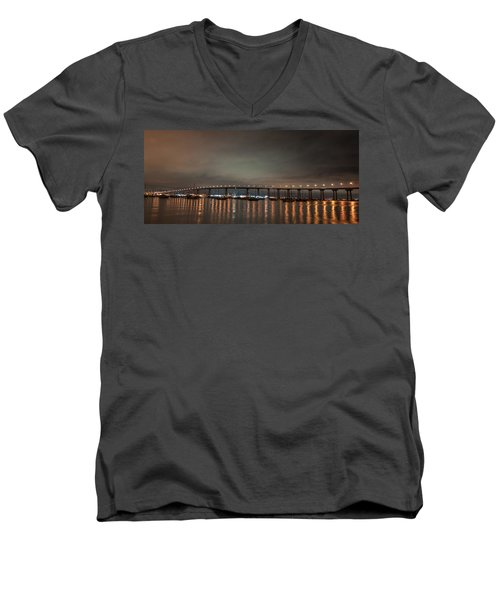 Coronado Bridge San Diego Men's V-Neck T-Shirt