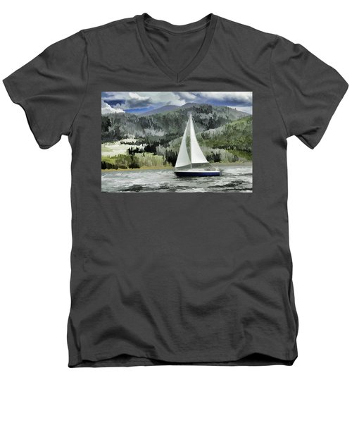 Colorado By Wind Men's V-Neck T-Shirt