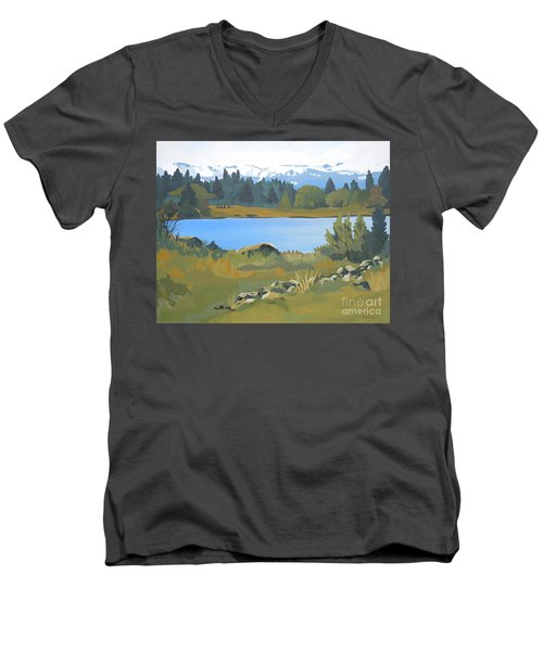 Colorado Mountains Men's V-Neck T-Shirt