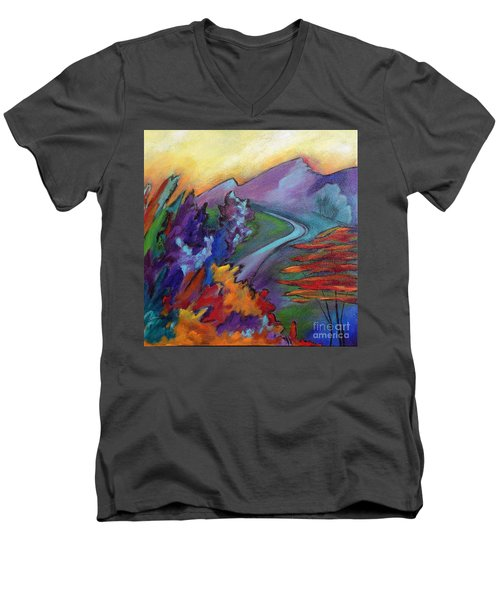 Colordance Men's V-Neck T-Shirt by Elizabeth Fontaine-Barr