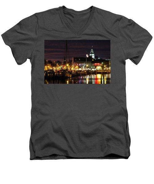 Colorful Annapolis Evening Men's V-Neck T-Shirt