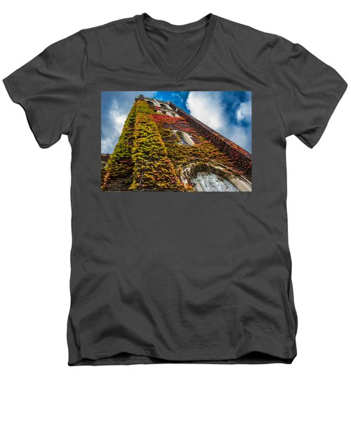 Colorful Bell Tower Men's V-Neck T-Shirt
