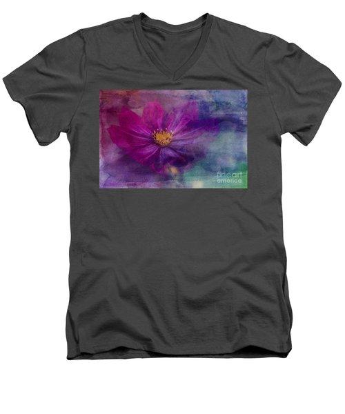 Colorful Cosmos Men's V-Neck T-Shirt
