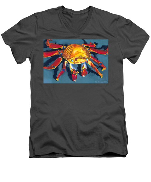 Colorful Crab Men's V-Neck T-Shirt