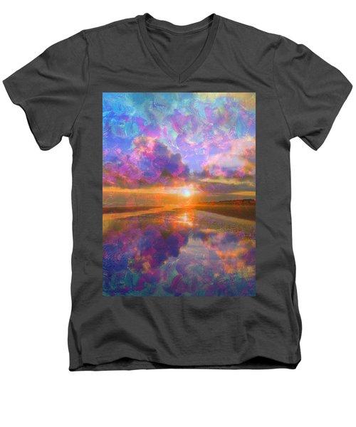 Colorful Sunset By Jan Marvin Men's V-Neck T-Shirt