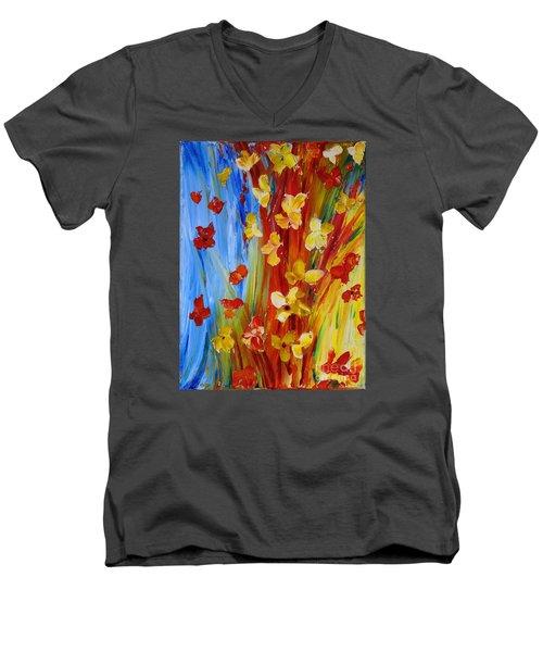 Colorful World Men's V-Neck T-Shirt