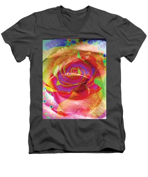 Colorfull Rose Men's V-Neck T-Shirt