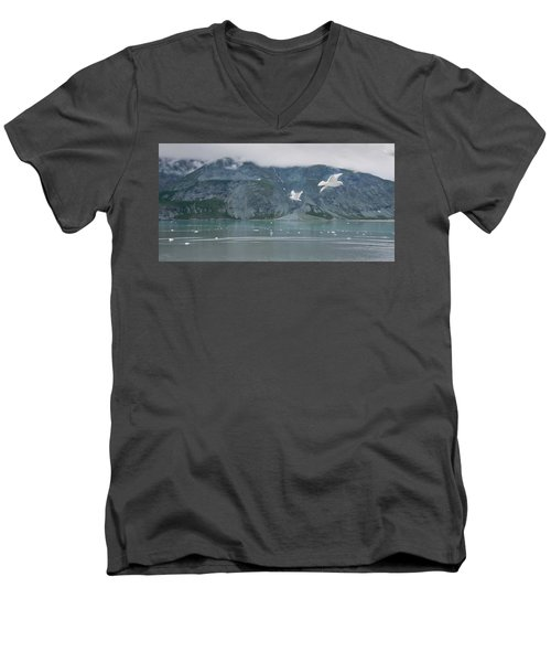 Colors Of Alaska - Glacier Bay Men's V-Neck T-Shirt