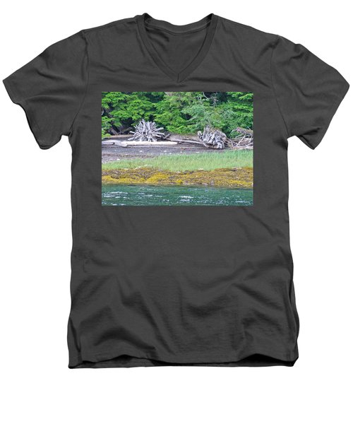 Colors Of Alaska - Layers Of Greens Men's V-Neck T-Shirt