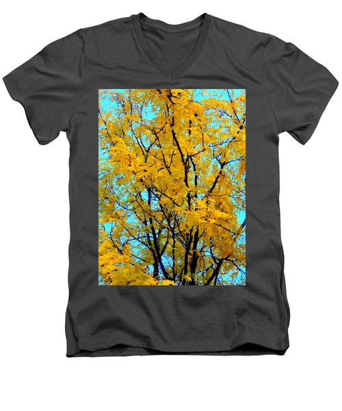 Colors Of Fall - Smatter Men's V-Neck T-Shirt