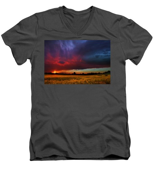 Summer Spectacular Men's V-Neck T-Shirt by Rob Blair