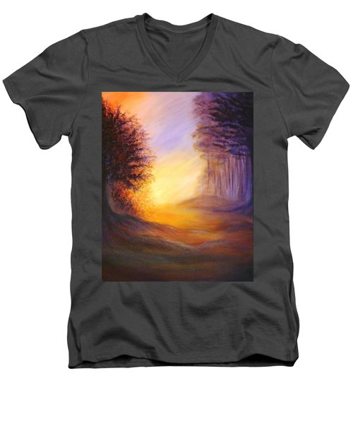 Colors Of The Morning Light Men's V-Neck T-Shirt