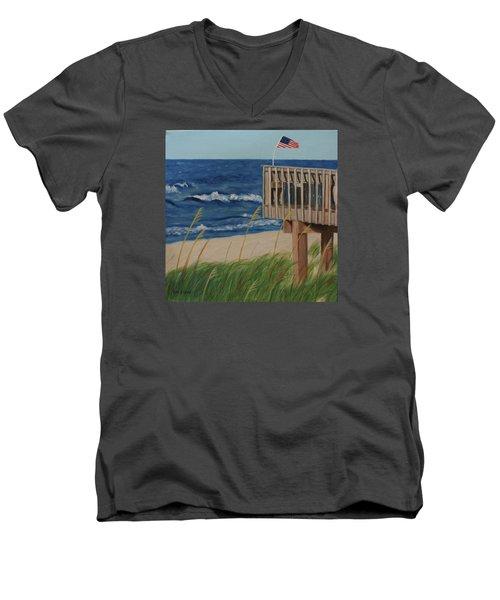 Colors On The Breeze Men's V-Neck T-Shirt