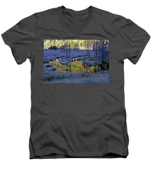 Men's V-Neck T-Shirt featuring the photograph Colour Palette by Jeremy Rhoades