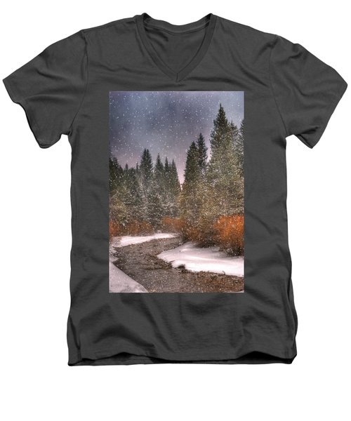 Colours Of Winter Men's V-Neck T-Shirt by Juli Scalzi