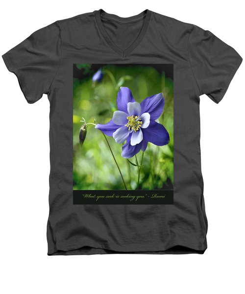 Columbine Card  Men's V-Neck T-Shirt