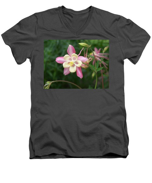 Men's V-Neck T-Shirt featuring the photograph Columbine by Kathryn Meyer