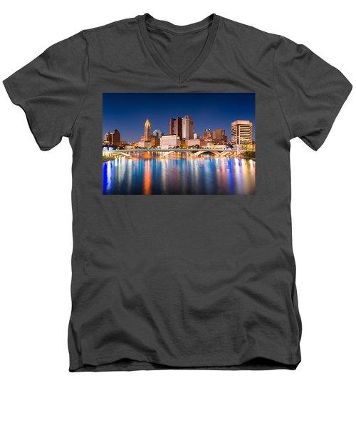 Columbus Ohio Men's V-Neck T-Shirt