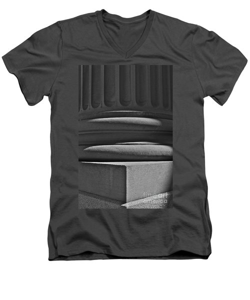 Men's V-Neck T-Shirt featuring the photograph Column 1 by Linda Bianic