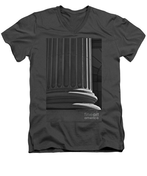 Men's V-Neck T-Shirt featuring the photograph Column 2 by Linda Bianic