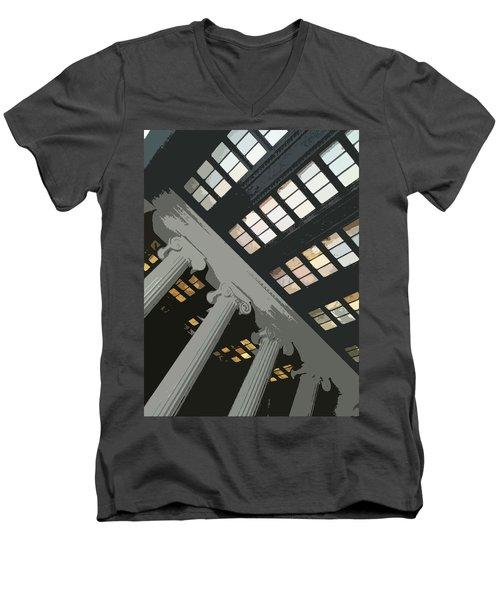 Columns Men's V-Neck T-Shirt by Julio Lopez