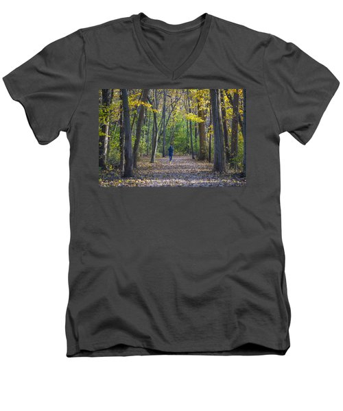 Men's V-Neck T-Shirt featuring the photograph Come For A Walk by Sebastian Musial