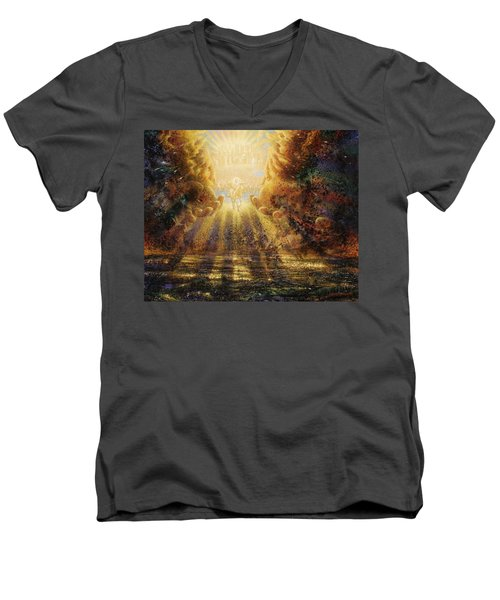 Come Lord Come Men's V-Neck T-Shirt