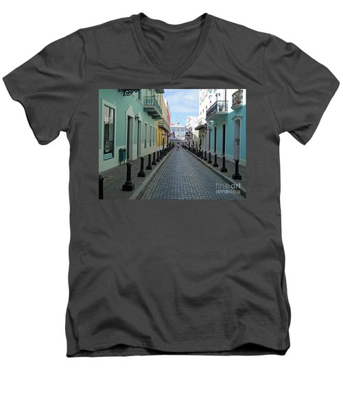 Men's V-Neck T-Shirt featuring the photograph San Juan Puerto Rico by Roberta Byram