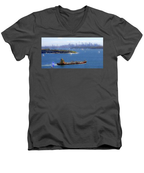 Men's V-Neck T-Shirt featuring the photograph Coming In by Miroslava Jurcik