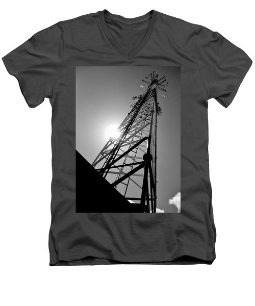 Comm Tower Men's V-Neck T-Shirt