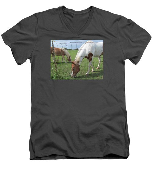 Men's V-Neck T-Shirt featuring the photograph Company Of Two by Tina M Wenger