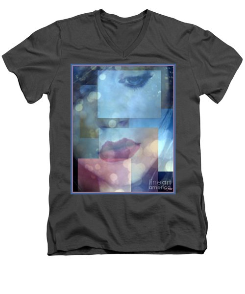 Compartmentalised Men's V-Neck T-Shirt by Irma BACKELANT GALLERIES